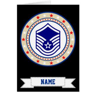 Sargento mayor MSgt E-7 de la fuerza aérea Tarjeta De Felicitación