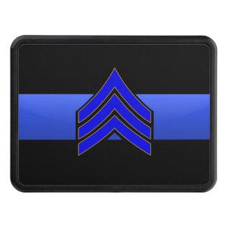 Sargento Rank- Thin Blue Line engancha la cubierta Tapas De Remolque