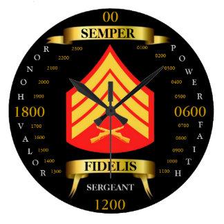 Sargento Reloj Redondo Grande