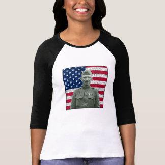 Sargento York y la bandera americana Playeras