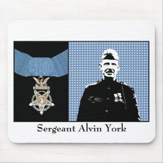 Sargento York y la medalla de honor Alfombrillas De Raton