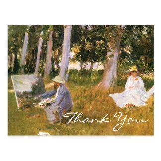 Sargent's Claude Monet Painting Postcard