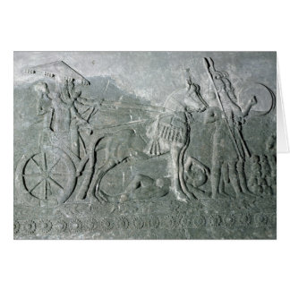 Sargon II  on a Battle Chariot Greeting Card