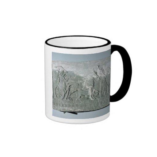 Sargon II  on a Battle Chariot Ringer Coffee Mug