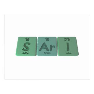 Sari as Sulfur Argon Iodine Postcard