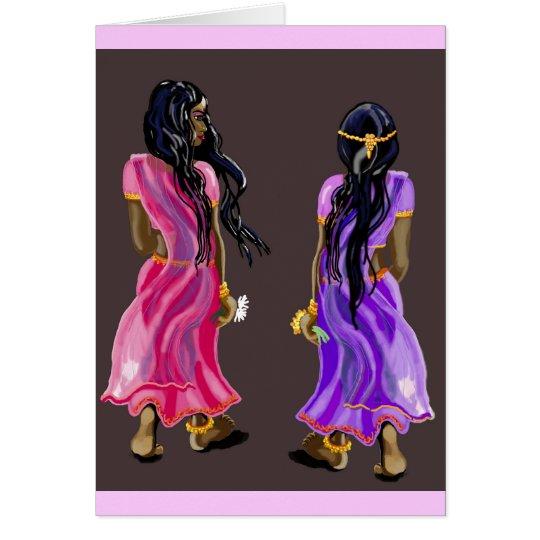 Sari sisters card