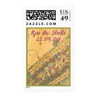 Sari Wedding Stamp