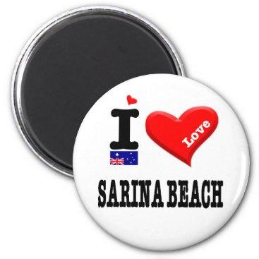 SARINA BEACH - I Love Magnet