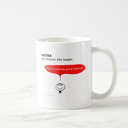 sarina classic white coffee mug