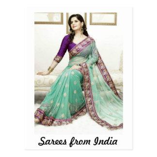 Saris de la India Tarjeta Postal