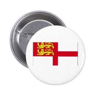 Sark Flag Pinback Button