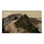 Sark, the Coupee, Channel Islands, England classic Business Card