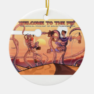 Sarlacc Pit podcast Christmas ornament double-side