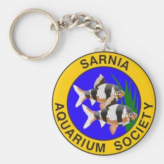 Sarnia Aquarium Society Basic Round Button Keychain