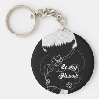 Sarong Girl -Be My Flower- Keychain Keyring