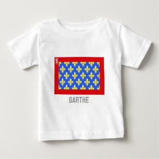 Sarthe flag with name infant t-shirt