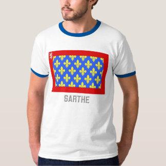 Sarthe flag with name tshirt
