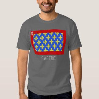 Sarthe flag with name tshirts