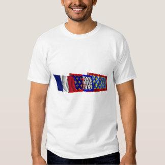 Sarthe, Pays-de-la-Loire & France flags Shirt