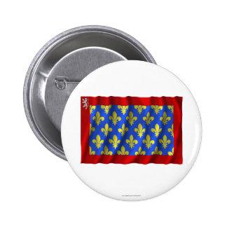 Sarthe waving flag button