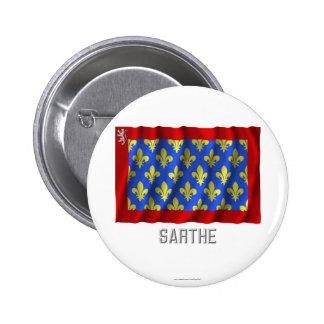 Sarthe waving flag with name button