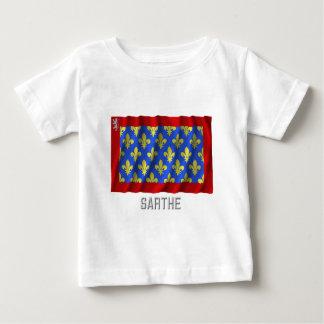 Sarthe waving flag with name shirts