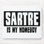 Sartre es mi Homeboy Alfombrillas De Ratones
