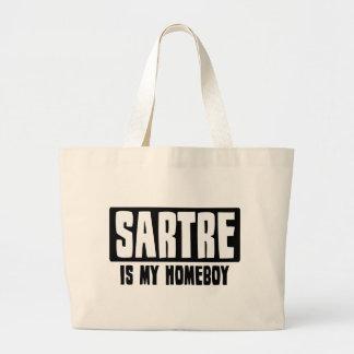 Sartre es mi Homeboy Bolsa Tela Grande