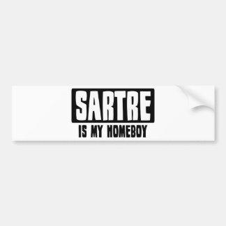 Sartre es mi Homeboy Pegatina De Parachoque