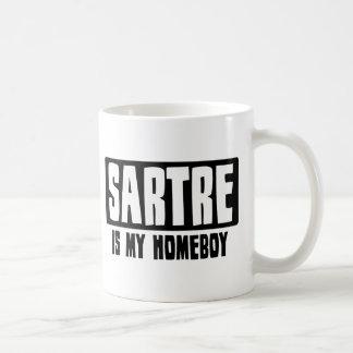 Sartre es mi Homeboy Tazas De Café