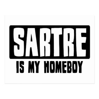 Sartre is my Homeboy Postcard