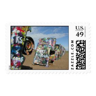 Saru at Cadillac Ranch Stamps