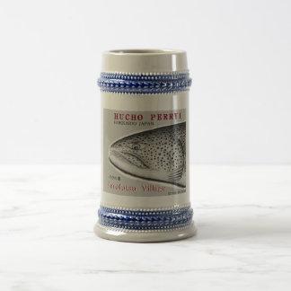 Saruhutsu village itou!  FISH ART JAPAN  < Hokkaid 18 Oz Beer Stein