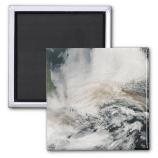Sarychev Peak blowing across the Sea of Okhotsk 2 Inch Square Magnet