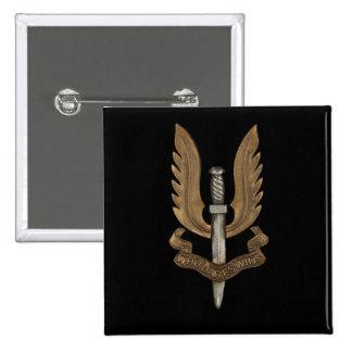 SAS británico Pin Cuadrado