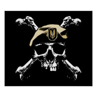 SAS Skull and Bones Print
