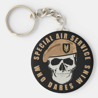 SAS Skull Keychain