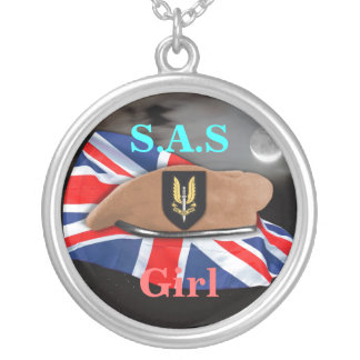 SAS special Air Service Badge veterans vets girls Silver Plated Necklace