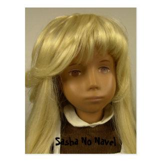 Sasha doll NO Navel postcard