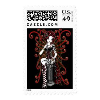 """Sasha"" Gothic Couture Valentine Fairy Postage"