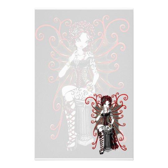 """Sasha"" Gothic Couture Valentine Fairy Stationery"