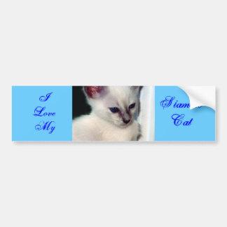 Sasha Kitten/I Love My Siamese Bumper Sticker