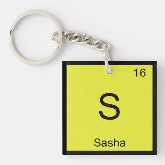 Sasha Name Chemistry Element Periodic Table Acrylic Key Chains
