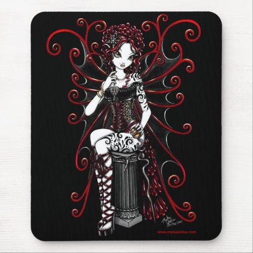 Sasha Red Tattooed Corset Fairy Mouse Pad