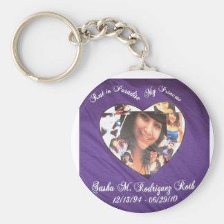 Sasha RIP Keychain