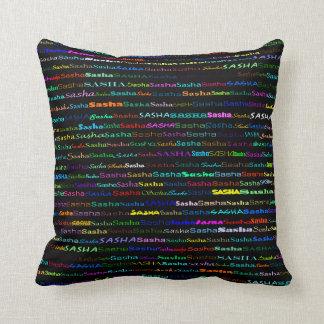 Sasha Text Design I Throw Pillow