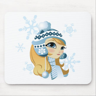 Sasha the Snow Bunny! Mouse Pad