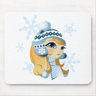 Sasha the Snow Bunny! Mouse Pad