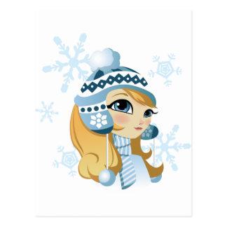 Sasha the Snow Bunny! Postcard