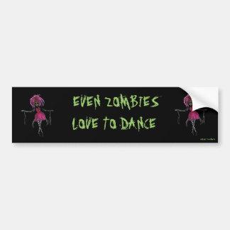 """Sasha Zombie Ballerina"" Bumper Sticker"
